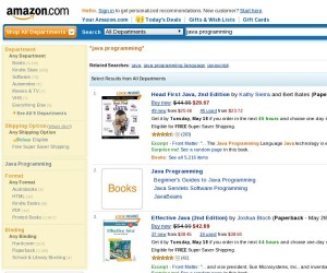 All Departments Amazon Faceted Search Example