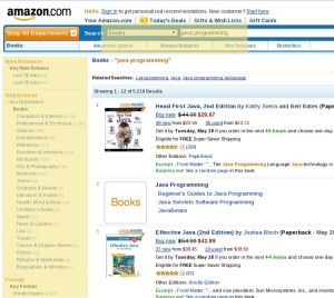 Books Only Amazon Faceted Search Example