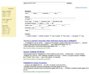 Faceted Search Example
